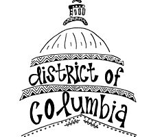 Hipster District of Columbia Outline by alexavec