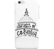 Hipster District of Columbia Outline iPhone Case/Skin