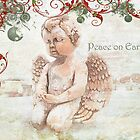 "The Littlest Angel ""Peace on Earth"" ~ Greeting Card by Susan Werby"