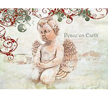 "The Littlest Angel ""Peace on Earth"" ~ Greeting Card Photographic Print"