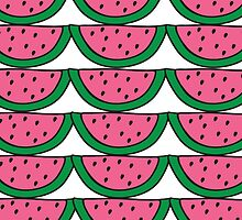 Not So Seedless Watermelon Pattern Portrait by ouradventure