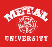 METAL UNIVERSITY - white letters Kids Clothes