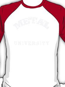 METAL UNIVERSITY - white letters T-Shirt