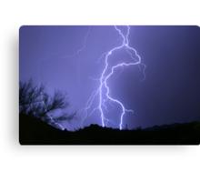 Desert Lightning Canvas Print