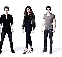 The Vampire diaries damon, stefan, elena by Dylanoposey