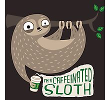 Caffeinated Sloth Photographic Print