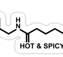 Hot and Spicy: Capsaicin Molecule Sticker