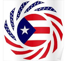 Puerto Rican American Multinational Patriot Flag Series Poster
