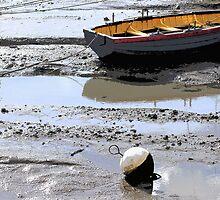 Low tide, Woodbridge by sally williams