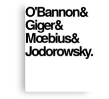 Jodorowsky's Dune - O'Bannon, Giger, Moebius and Jodorowski Canvas Print