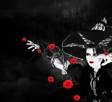 Witch with roses by AnnArtshock