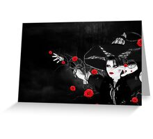 Witch with roses Greeting Card
