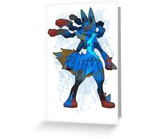 Pokemon - Mega evolution , Lucario ! Greeting Card