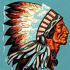 American Indian Chief Profile by BritishYank