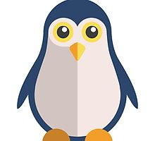 Cute cartoon penguin standing by berlinrob