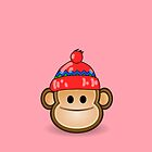Cute Monkey wearing Beanie by Customize My Minifig