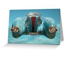 Vintage Sky Car Greeting Card