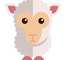 Cute little cartoon sheep by berlinrob