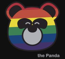 the Panda - Rainbow by inclover