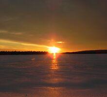 Second Lake Sunset by Martha Medford