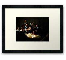 The Anatomy Lesson Of Dr. Nicolaes Tulp Framed Print