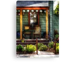 Two rocking chairs Canvas Print