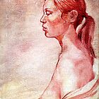 Nude portrait, oil sketch by Roz McQuillan