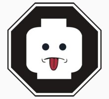 RUDE MINIFIG HEAD ROADSIGN by ChilleeW