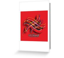 Stewart Tartan Twist Greeting Card