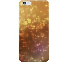 Universe abstract yellow background iPhone Case/Skin