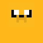 Adventure Time 8-bit Sprite Jake's Face by d13design