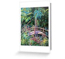 Japanese Bridge Tamborine Mountain Botanical Gardens Greeting Card