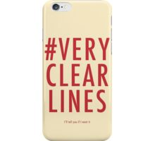 ALT #Very Clear Lines iPhone Case/Skin