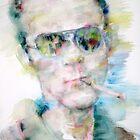 HUNTER S. THOMPSON - watercolor portrait by lautir