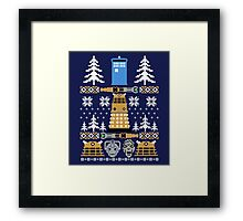 Doctor Who Ugly Sweater Framed Print