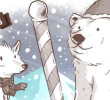 North Pole Christmas Sticker