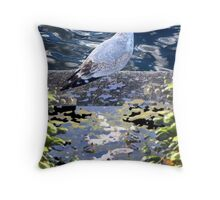 Wading World Throw Pillow