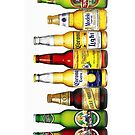 BEER BOTTLES and corona by thatstickerguy