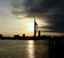 Storm clouds over the Spinnaker Tower by Sharon Perrett