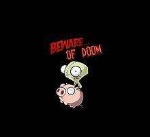 Gir Beware of DOOM Duvet by Damon389489