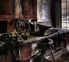 In my Granfathers basement by Mike  Savad