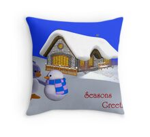 Seasons Greetings My Friend   Throw Pillow