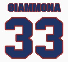 National football player Louie Giammona jersey 33 by imsport