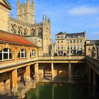 Roman Baths, Bath England by Mark Baldwyn