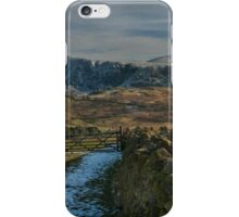 winter mountain view lake district cumbria iPhone Case/Skin