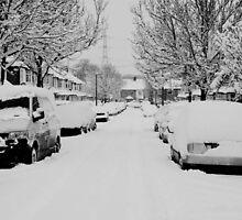 Snow Street Scene by deejaypow