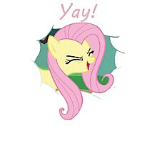 Yay!! Fluttershy Photographic Print