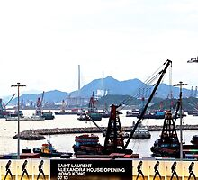 A Walk at the feet of the ICC - Hong Kong. by Tiffany Lenoir