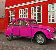 Pink Citroen 2CV by Andy Mueller