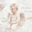 "The Littlest Angel ""Christmas Greetings"" ~ Greeting Card by Susan Werby"